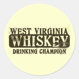 Campeón de consumición del whisky de Virginia Etiqueta Redonda