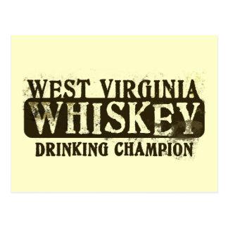 Campeón de consumición del whisky de Virginia Tarjeta Postal
