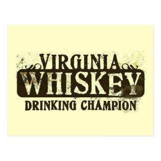 Campeón de consumición del whisky de Virginia Tarjetas Postales