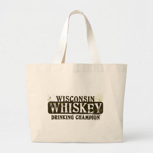 Campeón de consumición del whisky de Wisconsin Bolsa Tela Grande