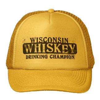 Campeón de consumición del whisky de Wisconsin Gorras