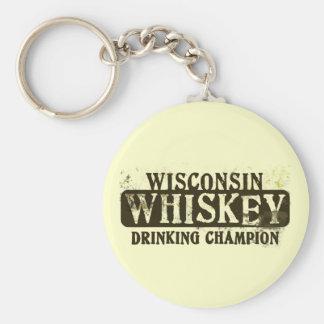 Campeón de consumición del whisky de Wisconsin Llavero Redondo Tipo Pin