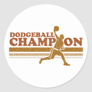 Campeón de Dodgeball del vintage Pegatina