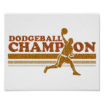 Campeón de Dodgeball del vintage Poster