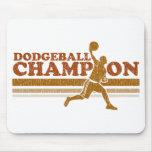 Campeón de Dodgeball del vintage Alfombrilla De Raton