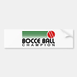 Campeón de la bola de Bocce Etiqueta De Parachoque