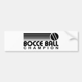 Campeón de la bola de Bocce Pegatina De Parachoque