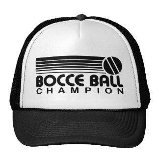 Campeón de la bola de Bocce Gorras