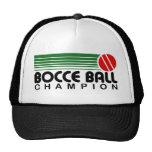 Campeón de la bola de Bocce Gorras De Camionero