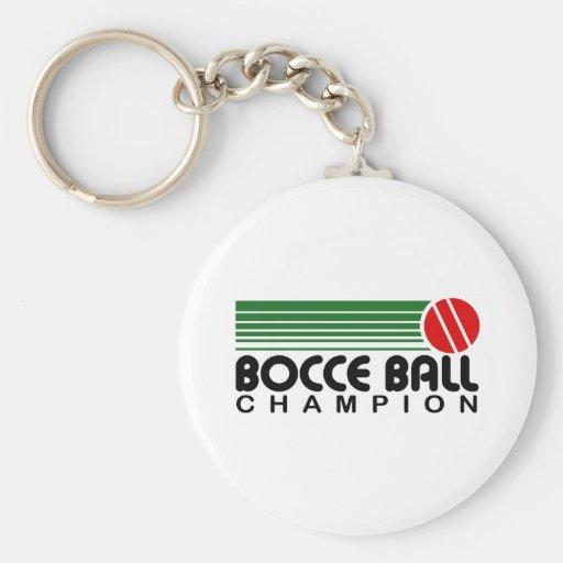 Campeón de la bola de Bocce Llavero Redondo Tipo Pin