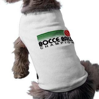Campeón de la bola de Bocce Playera Sin Mangas Para Perro