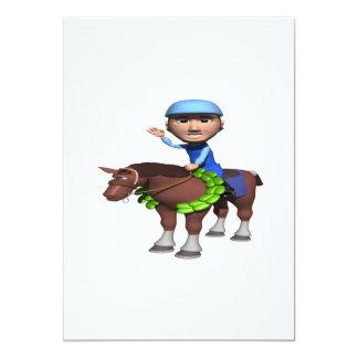 """Campeón de la carrera de caballos invitación 5"""" x 7"""""""