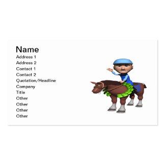 Campeón de la carrera de caballos tarjetas de visita