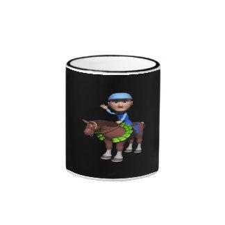 Campeón de la carrera de caballos taza a dos colores