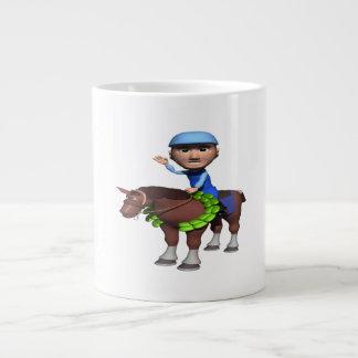 Campeón de la carrera de caballos taza grande