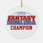 Campeón de la liga de fútbol de la fantasía adorno para reyes