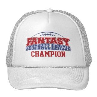 Campeón de la liga de fútbol de la fantasía gorros bordados