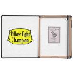 Campeón de la lucha de almohada iPad carcasas