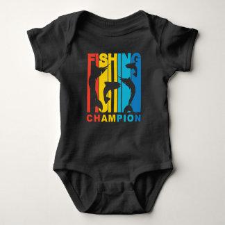 Campeón de la pesca body para bebé