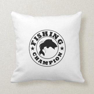 Campeón de la pesca almohadas