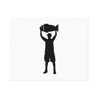 Campeón de la pesca impresiones en lona estiradas