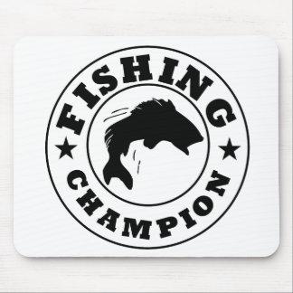 Campeón de la pesca alfombrillas de ratón