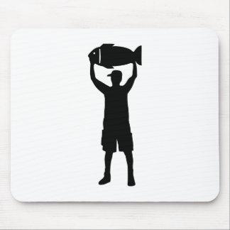 Campeón de la pesca tapete de raton