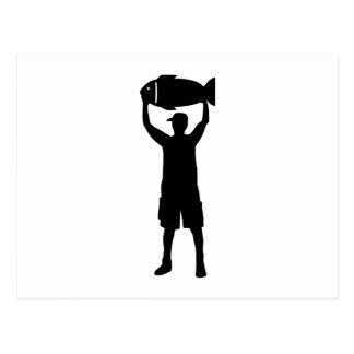 Campeón de la pesca tarjeta postal
