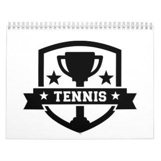 Campeón de la taza del tenis calendarios de pared