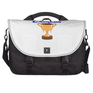 Campeón de la taza del trofeo bolsas de ordenador