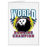Campeón de los bolos del mundo tarjeta