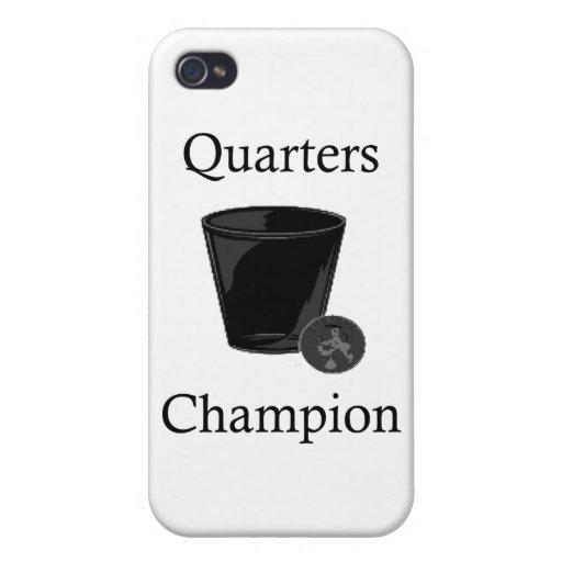 Campeón de los cuartos iPhone 4/4S fundas