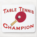 Campeón de los tenis de mesa alfombrilla de raton