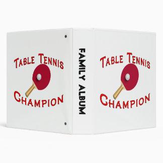 """Campeón de los tenis de mesa carpeta 1 1/2"""""""