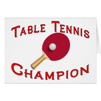 Campeón de los tenis de mesa felicitaciones
