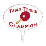Campeón de los tenis de mesa figura de tarta