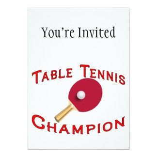 Campeón de los tenis de mesa anuncios personalizados