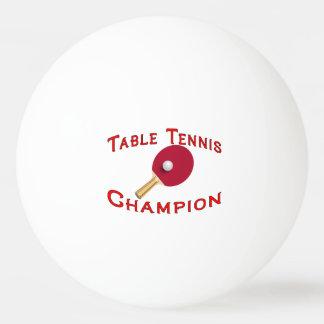 Campeón de los tenis de mesa pelota de tenis de mesa