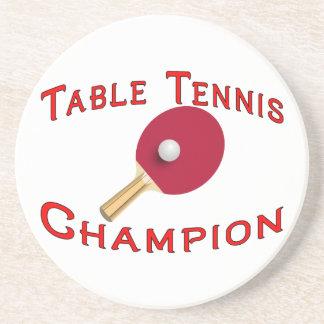 Campeón de los tenis de mesa posavasos diseño