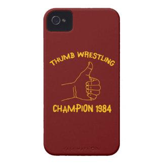 campeón de lucha 1984 del pulgar iPhone 4 carcasas