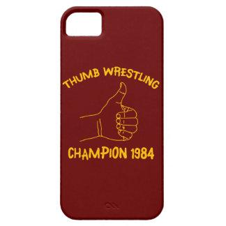 campeón de lucha 1984 del pulgar iPhone 5 funda