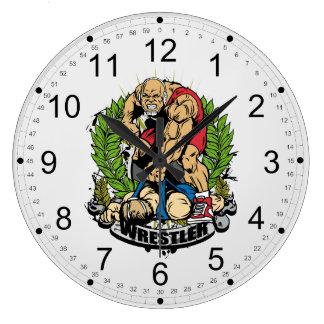 Campeón de lucha reloj redondo grande