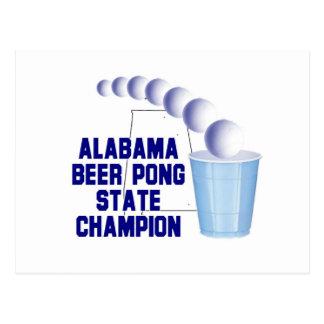 Campeón de Pong de la cerveza de Alabama Postal