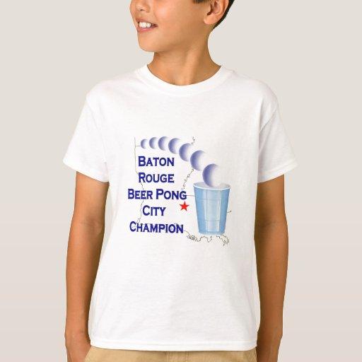 Campeón de Pong de la cerveza de Baton Rouge Playera