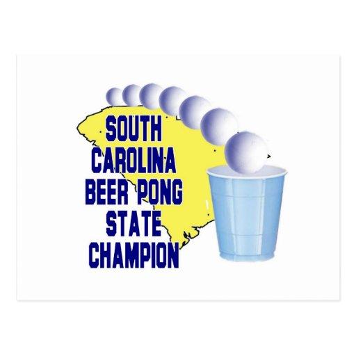 Campeón de Pong de la cerveza de Carolina del Sur Tarjeta Postal