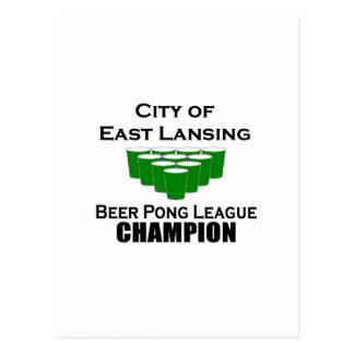 Campeón de Pong de la cerveza de East Lansing Postal