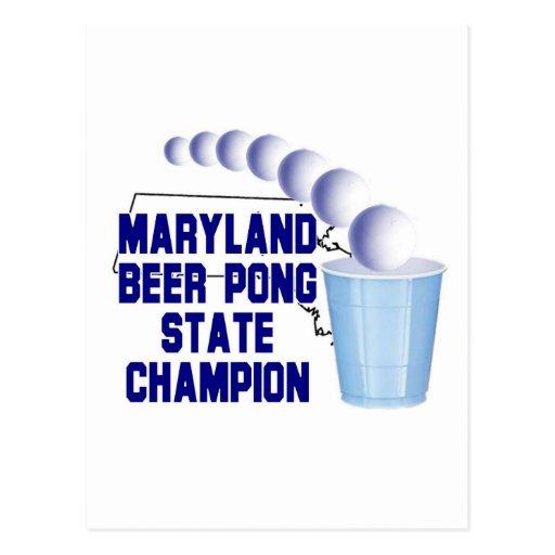 Campeón de Pong de la cerveza de Maryland Postales