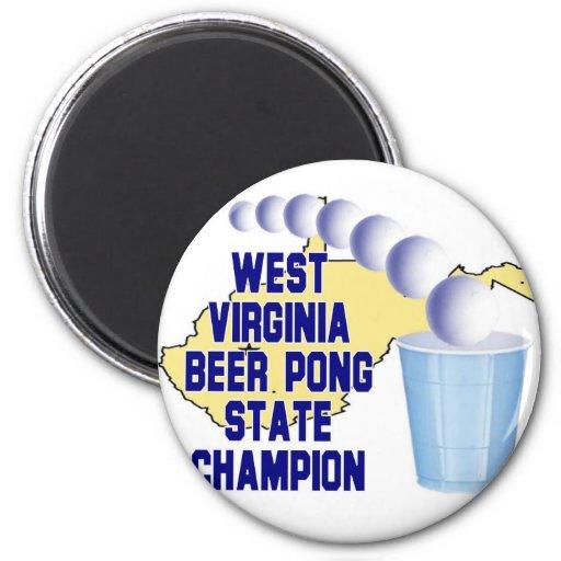 Campeón de Pong de la cerveza de Virginia Occident Iman Para Frigorífico