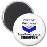 Campeón de Pong de la cerveza de Witchita Imán Para Frigorífico