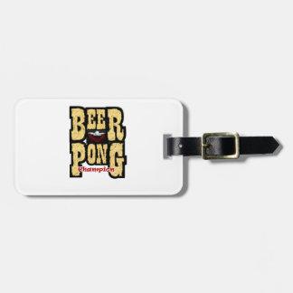 Campeón de Pong de la cerveza Etiqueta Para Maleta
